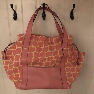 Kate spade pink giraffe tote